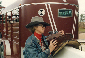 With the saddle in the 1980s.  The stock trailer has been sold as well.