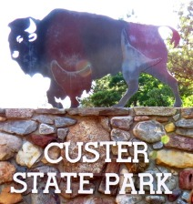 Custer State Park sign 2014