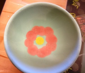 Bowl painted by Linda 2016
