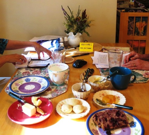 Tea at the Writing Retreat 2017--8-2