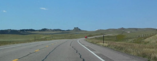 Wyoming Highway near Lusk stock footage