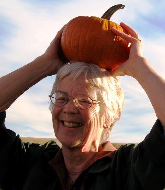 Linda pumpkin head