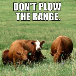 dont plow the range
