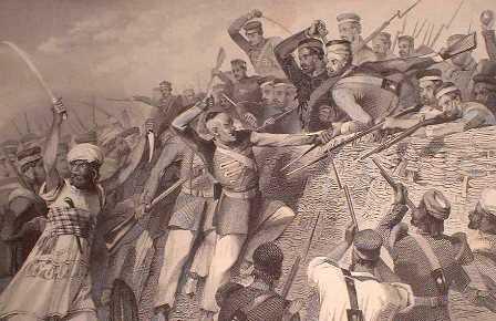 Lucknow Siege - steel engraving circa 1860 - unknown artist