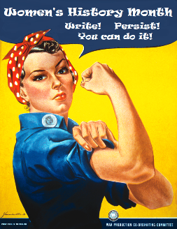 Womens History Month Write Persist