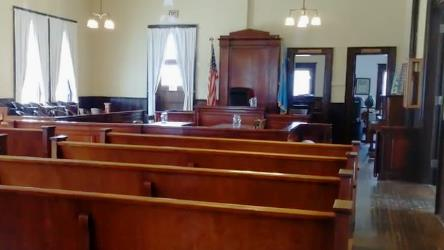 Courtroom Judges chamber to right of the bench