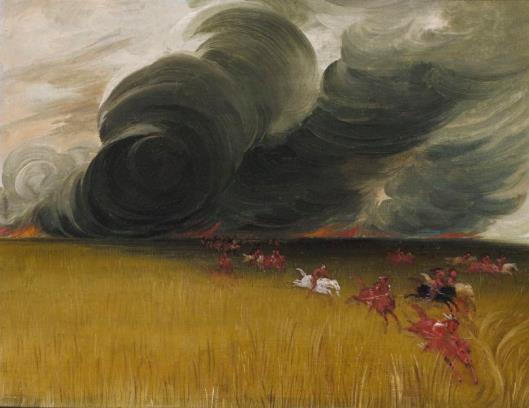 George Catlin prairie meadows burning 1832 - Smithsonian American Art Museum