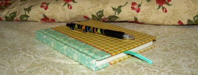 Journal under pillow