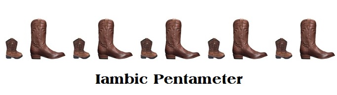 Cowboy Poetry - Iambic Pentameter boots with label