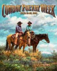 Cowboy Poetry Week poster by Shawn Cameron for www.CowboyPoetry.com