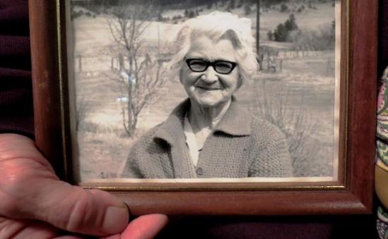 Planting Peas - grandmother