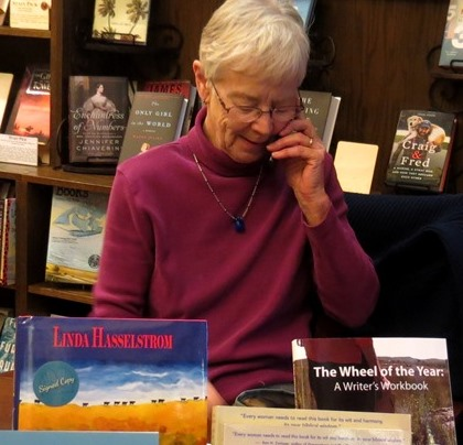 Phone call during book signing