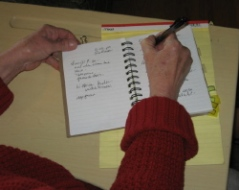 Grandmother journal notes become ideas for poems